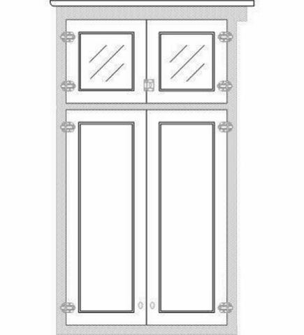 After Locating Sources For The Period Specific Hardware, Making Field  Measurements Of The Space, And Drawing Up A Variety Of Cabinet Door  Proportions In CAD ...